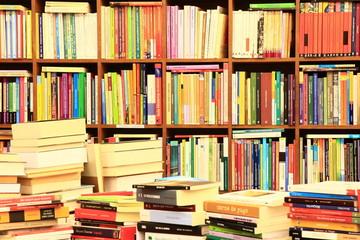 Library, Bücherwand, Buchgeschäft, Buchladen, Spanien