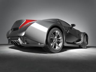 Sports car. My own car design.