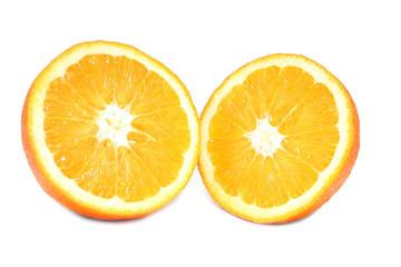orange in mitte geteilt
