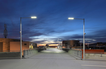 Car park at dusk Fotomurales