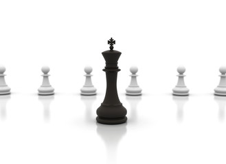 Chess king in front - Leadership