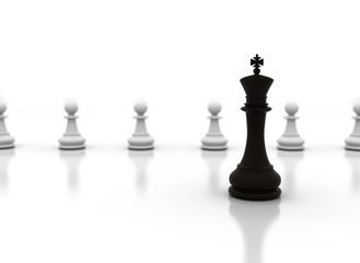 Chess pieces - Leadership illustration