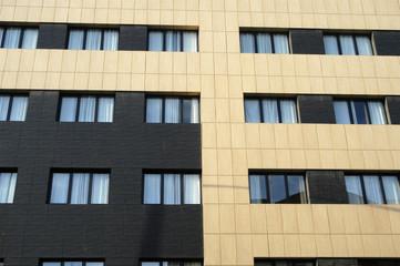 Fachada de edificio moderno