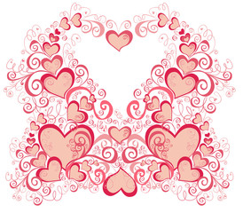 Wedding background with Hearts, element for design