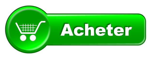 Bouton Web ACHETER (Chariot Panier Commander e-Shopping Achats)
