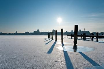 Winterstimmung im Hafen in Rostock 2