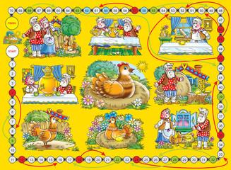 "Board game ""Gold egg"""