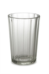 An empty glass isolated on white