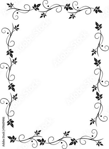 rahmen bl tter laub filigran floral leafes autumn. Black Bedroom Furniture Sets. Home Design Ideas