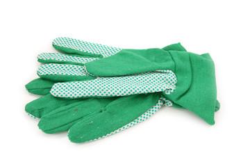 Gardening gloves isolated on white background