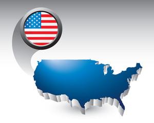 usa icon blue united states icon