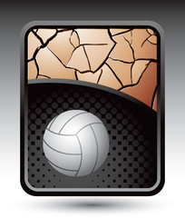 volleyball bronze cracked background