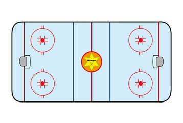Ice hockey field