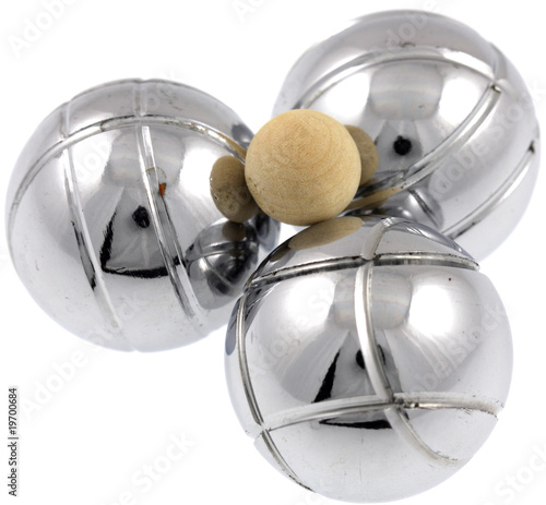 Boules p tanque cochonnet fond blanc photo libre de for Prix boules de petanque