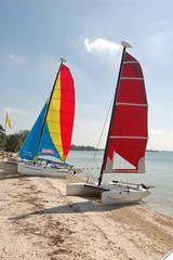 Catamarans on a Southeast Florida Beach