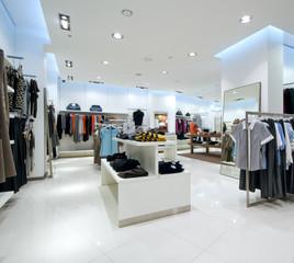 Interior of shopping mall