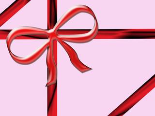 pacco regalo con fiocco rosso natale pasqua e feste