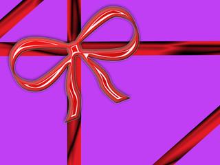 pacco viole con fiocco rosso nastri rossi natale pasqua e feste