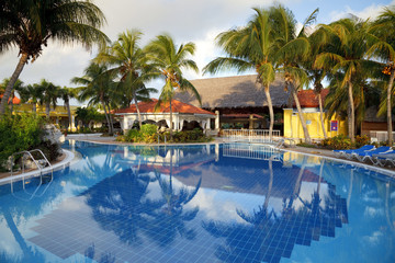 swimming pool and hotel resort
