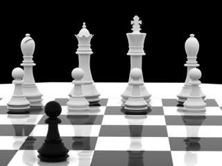 Chess games 3d concept