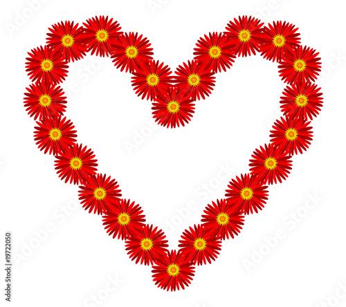 Amour Image Coeur coeur (je t'aime fleurs déclaration amour saint valentin cœur