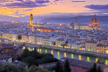 Spoed Fotobehang Florence Sunset in Florence