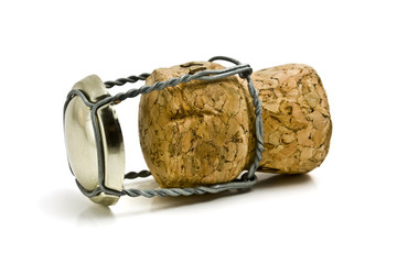 One Champagne cork