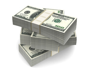 Dollar Bills Packs (with clipping path)
