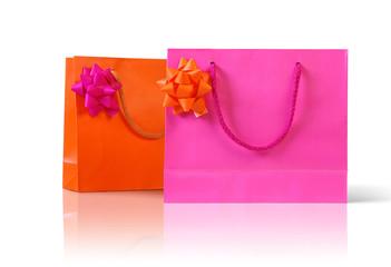 pink an orange bags