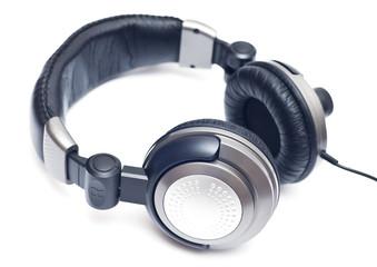 Isolated big grey headphones