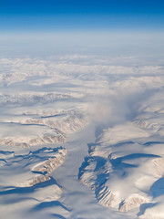 Aerial View of Auyuittuq National Park, Baffin Island, Canada