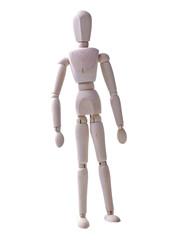 wooden human figure standing