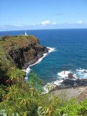 Hawaiian lighthouse in bay