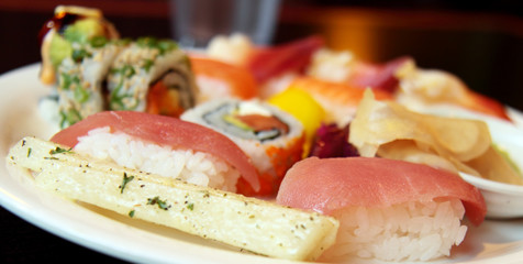 Assorted Sushi on a plate