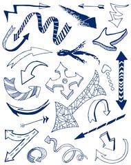 Arrows doodles set.