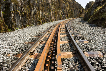 Rack and Pinion Track Through the Canyon