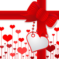 Valentine red bow