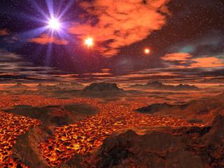 Lava Sea on Alien Planet