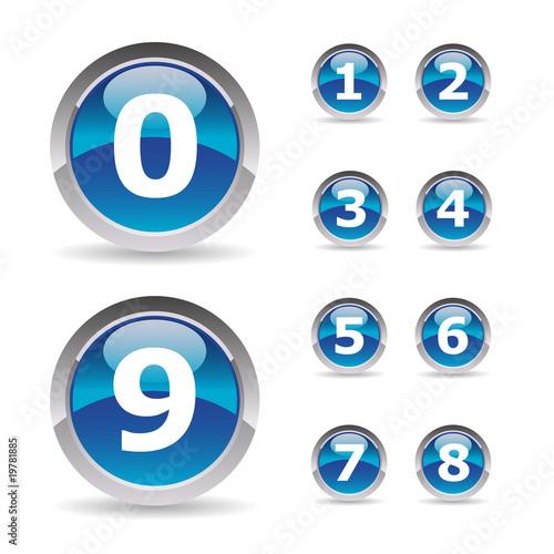 """Célèbre Collection of numbers - Pictos chiffres 1 à 9"""" fichier vectoriel  HI01"""