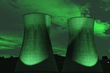 Green Nuke Chimneys