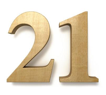 21 wooden celebration anniversary birthday