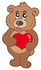 In de dag Beren Cute bear holding heart