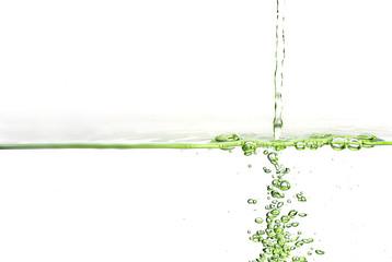 Grüne Wasseroberfläche
