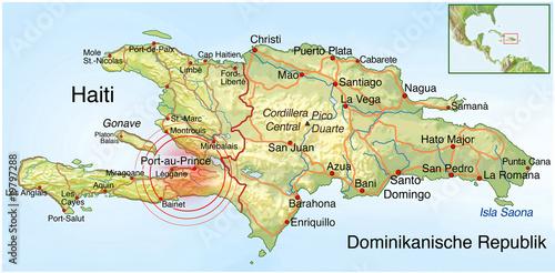 Haiti Karte.Landkarte Haiti Erdbeben Katastrophe Stock Photo And Royalty