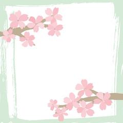 筆で描いた桜