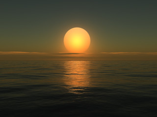 Sunrise on sea