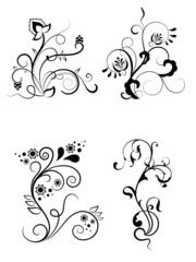 Floral elements for design