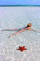 Girl with a starfish