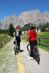 cycling tour around the Dolomites
