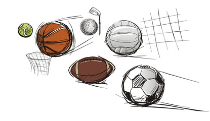 Balls for different kinds of sports